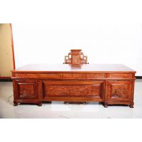 厂家直销红木家具2米办公桌 刺猬紫檀 名琢世家品牌