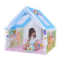 澳乐儿童帐篷游戏屋 小孩室内公主房子宝宝爬行隧道海洋球套餐