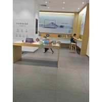 湖北华为3.5版木纹展示柜 新款华为灯箱边柜众鑫展示制作