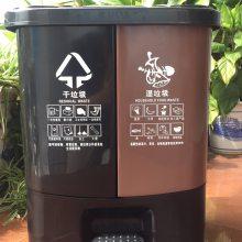 分类垃圾桶 双桶垃圾桶家用 干湿分开家用垃圾桶带盖 现货直销