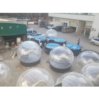 2018新款亚克力超大透明球3米亮灯大球加底座/有机玻璃圣诞球罩