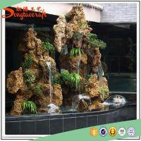 新品假山流水喷泉假山摆件家居风水轮创意树脂假山