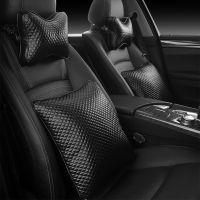 新款超软皮质 汽车头枕护颈枕 车用靠枕车载骨头枕腰靠枕头 一对