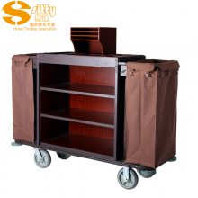 专业生产SITTY斯迪99.7816铁木结构整装客房服务车/房口车/房间清洁车