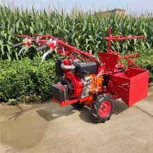 亚博国际真实吗机械 汽油玉米收割机 单行玉米收获机 手推微耕机带玉米收获机 山地坡地玉米收获机