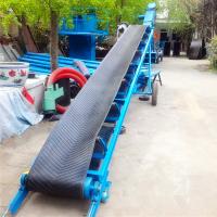 棉布上楼用输送机 22米长爬坡型输送机 移动式电动升降皮带机
