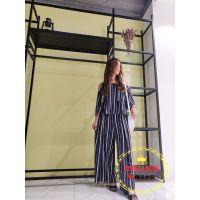 广州品牌服饰库存尾货批发丝珂夏装多种面料多种款式