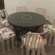 石质火锅桌款式,众美德火锅家具厂,非常规火锅桌椅定做