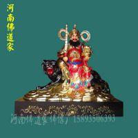五路财神像1.8米 财源滚滚 贴金彩绘玻璃钢神像