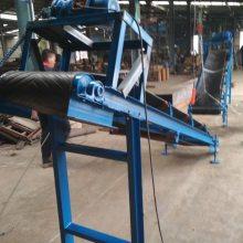 高效粉料爬坡式输送机 带防尘罩移动皮带机