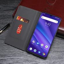 厂家批发优米Umidigi A5 Pro纯色复古纹手机皮套时尚翻盖手机套全包边防摔手机保护套
