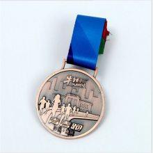 创意锌合金运动会奖牌定制金属荣誉奖章兵乓求比赛镀金色奖牌定做