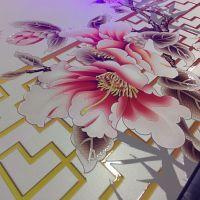 大型背景墙打印机 3d浮雕瓷砖玻璃 亚克力电视墙 理光uv平板打印机