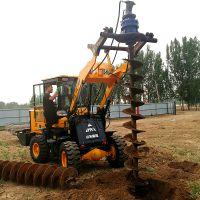 公路挖坑机;全液压拖拉机挖坑机厂家,自动化车载式电线杆钻孔机 洪涛图片