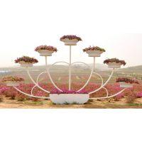 成都大型铁架花坛景观造型,定制造型哦,分成好看
