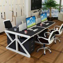 京好 职员办公桌 四人位员工电脑桌 现代简约环保2/4/6工作位屏风六人A151