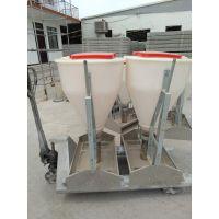 益鑫猪用干湿料槽不锈钢料槽自动下料器育肥养猪设备食槽饲料桶