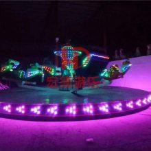 星际探险 游乐园新款刺激好玩游乐设备霹雳翻滚3臂18座郑州宏德游乐热销