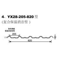 巢湖墙面彩钢板YX28-205-820型厂家规格齐全