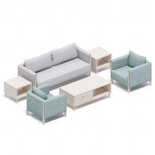 家装休闲沙发 布艺沙发 麻绒三人沙发 单人沙发 欧式办公沙发1+1+3