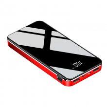 镜面手机电源定制 工厂直销移动电源批发 创意新型充电宝定做logo 商务馈赠礼品电源