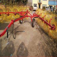 大型搂草机 四轮车配套液压搂草机 指盘牧草打捆收集搂草机