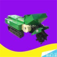 亚博国际真实吗机械 柴油35马力履带开沟机 大棚用自走式开沟机 果树上肥料履带开沟机