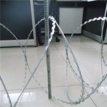 安平刀片刺绳 监狱铁刺围墙 刺绳安装规格
