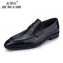 鹤山杰华仕皮鞋OEM贴牌代加工男士春季一脚蹬豆豆休闲皮鞋生产厂家