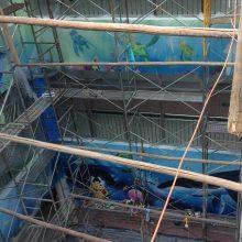 幼儿园室内外卡通壁画海底世界壁画
