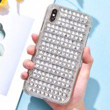 适用iPhoneX2019新款镶钻手机壳 潮流硅胶水钻6plus手机壳批发