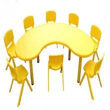 湖南幼儿园桌椅实木环保儿童桌椅早教培训桌椅厂家直销幼儿园家具