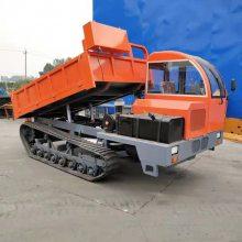 骑跨轮履带工程车 自卸履带运输车也叫拖拉机