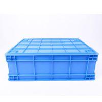 临安锐力搏方形周转箱塑料加厚带盖塑胶筐物料盒物流收纳箱厂家直供