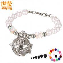 世莹  91珍珠水晶珠子香水精油扩散器手链DIY饰品