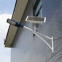 抱杆式太阳能路灯价格 电线杆式LED太阳能路灯图片