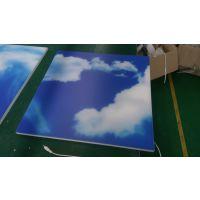 UV打印/喷绘/PS扩散板/蓝天白云图案/LED扩散板/300*300