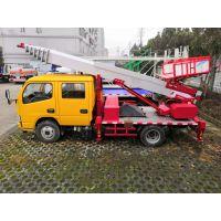 江铃顺达双排座蓝牌高空作业车 28米CLW5040TBAJ5云梯搬家车 装修建材砂石料上楼车