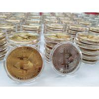 比特虚拟币定制厂家 金属纪念币专业定制 锌合金纪念币书签