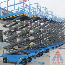 南昌四轮移动式升降机厂家 升高12米载重500公斤剪叉式升降平台 航天优质生产厂家