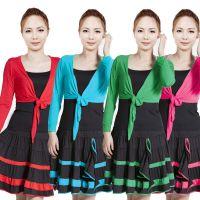 春夏秋短裙广场舞服套装 舞蹈服 新款三件套披肩舞蹈服