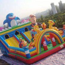 專業廠家定做氣模玩具熊出沒款充氣城堡大滑梯游樂設備充氣蹦蹦床
