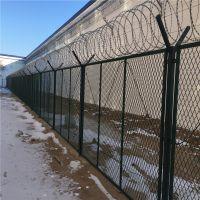 监狱铁丝围网 监狱隔离防爬网 蛇腹型刀刺网