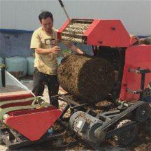牛羊饲草打捆包膜机 鲜草发酵青贮打捆包膜机