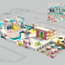 网红马卡龙色系儿童淘气堡室内儿童乐园成都本地厂家直销