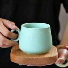 北欧风格小奢华家用彩色马克杯 大肚咖啡杯 活动礼品定做
