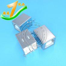 B母 立式 D型 D字口 BF 180度 方口USB座 打印机插口/接口