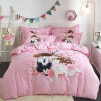 床上用品纯棉全棉四件套13372 40支斜纹活性大版花套件