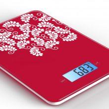 精简风印花玻璃电子厨房秤 食物秤 配料秤GKS1561D CE和RoHS认证 定制图案和LOGO