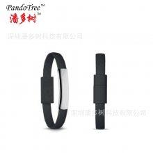 速卖通创意适用于苹果手环数据线 5s手腕线数据线USB 6s 安卓手机